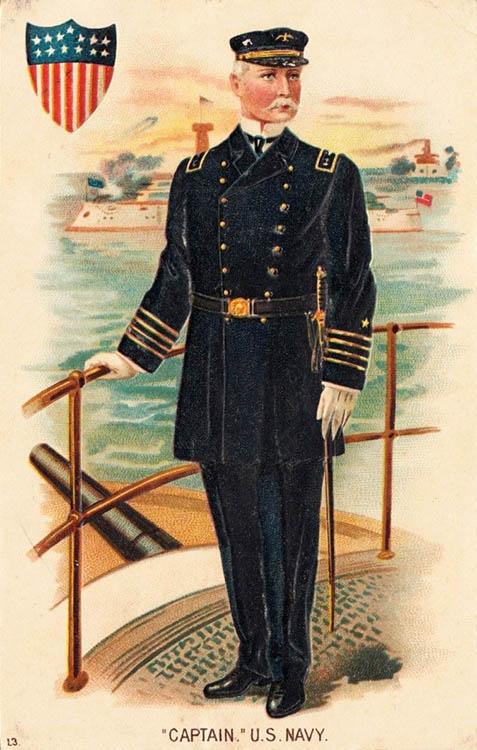 Schiffskapitän in Uniform