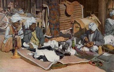 Schneider, Indien, Nähmaschine, Wasserpfeife