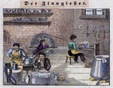 Handwerker bei der Arbeit in der Werkstatt