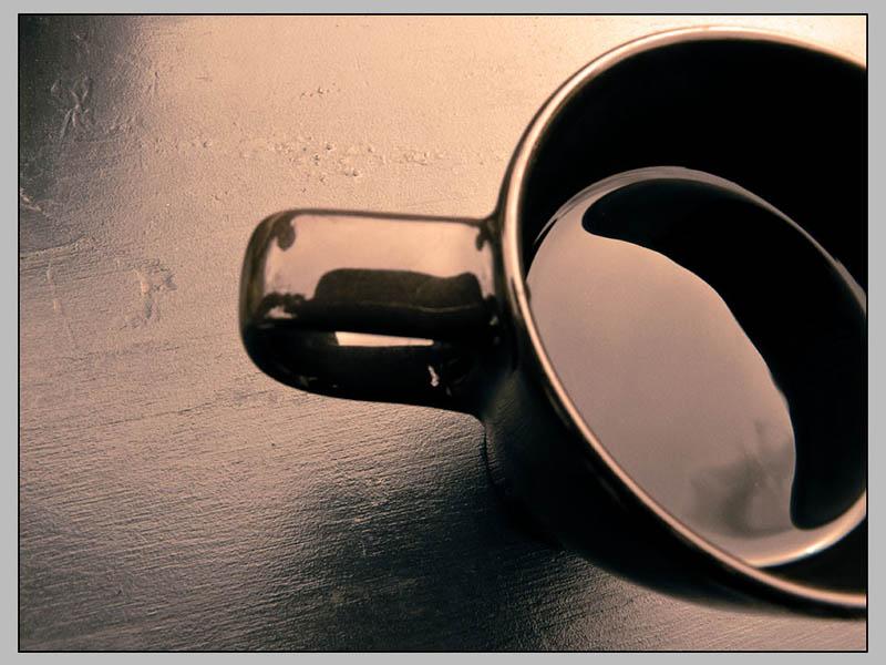 Foto: Tasse mit schwarzem Kaffee