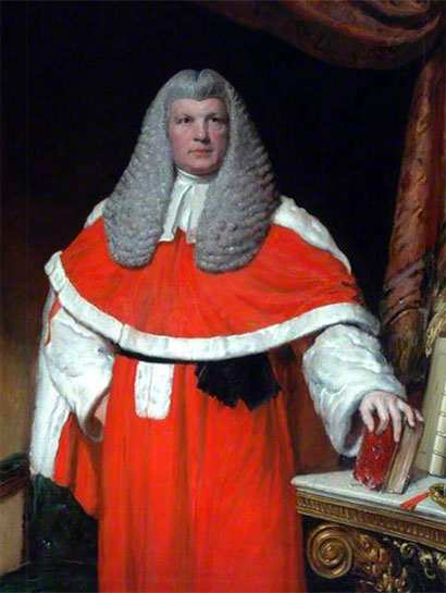 Ölgemälde: Portrait des Richters John Hullock