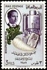Zuckerhersteller, Zuckerindustrie, Zuckerrübe, Briefmarke, Irak
