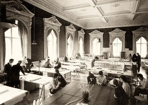 Großraumbüro, Architekten, Arbeitsplatz