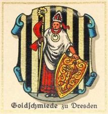 Sammelbild: Symbol der Goldschmied, Wappen