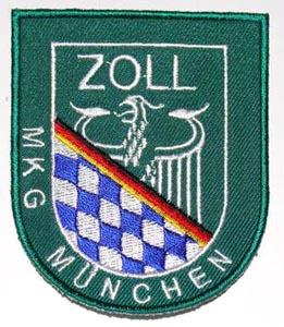 Aufnäher des Münchner Zolls