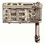 sw illu: gezeichnete Holzratsche