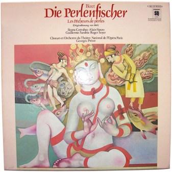 modernes DVD-Cover mit einer wundeschönen Darstellung einer ceylonesischen Perlenfischerin