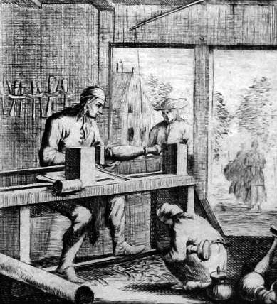 sw-Stich: Drechsler arbeiten in ihrer Werkstatt