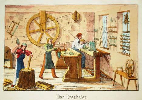 Drechsler, Holzhandwerk, Werkstatt