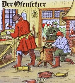 Ofensetzer, Werkstatt, Handwerk, Ofenbauer