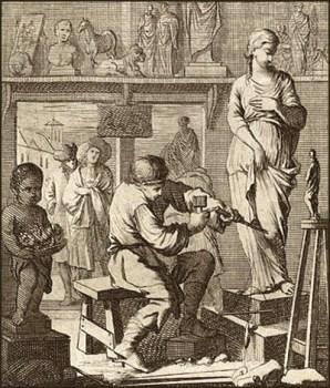 Steinbildhauer, Bildhauer, Bildhauerwerkstatt, Skulptur