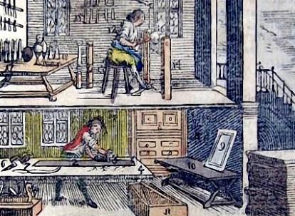 Schreinerwerkstatt auf zwei Etagen