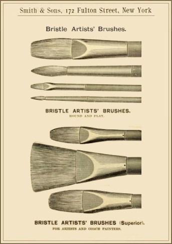 Kunstmaler, Maler, Borstenpinsel, Pinselformen