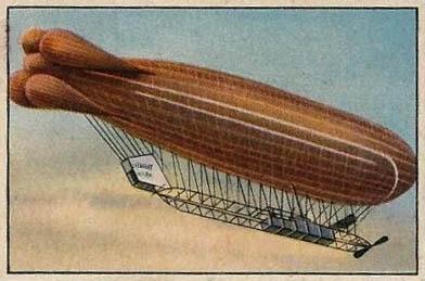 altes farbiges Sammelbild: Luftschiff