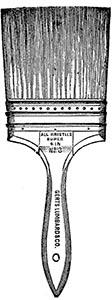 s/w-illu: flacher Malerpinsel