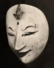 s/w Foto: alte javanesische Theatermaske