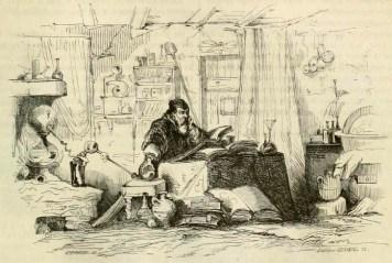 Alchemist in seinem Labor