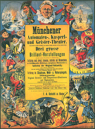 Theaterplakat von 1884