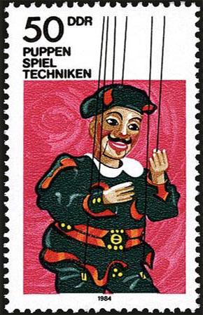 Marionette auf DDR-Briefmarke