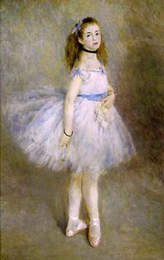 Gemälde: Portrait einer kleinen Ballettänzerin im Tutu