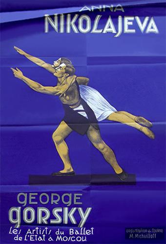 Plakat: Anna Nikolajeva & George Gorsky in Tanzpose