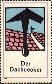 Reklamemarke: Dach und Hammer