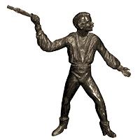 keine Figur: Messer werfender Mann