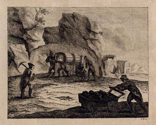 Arbeiter beim Bergwerk