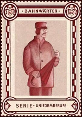 Sammelmarke - Bahnwärter aus Serie Uniformberufe