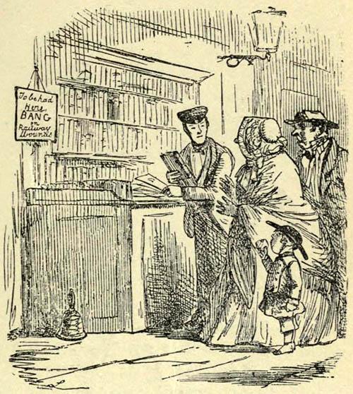 Buchillustration: Familie im Buchladen
