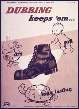 Werbekarte: Lederschuh