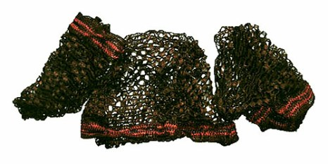 Farbfoto: Haarnetze zum Schutz der Frisur - Anf. 20. Jh