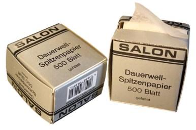 Foto: zwei Packungen Dauerwellpapier