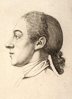 Zeichnung: Lindau im Profil mit Hinterkopf-Haarnetz