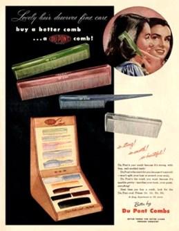 farbige Werbung für Kämme - 1948, USA