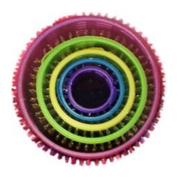 Farbfoto: 5 ineinander gesteckte Haftwickler aus Kunststoff - um 2000, England