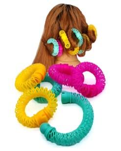 Farbfoto: ringförmig zu verbindende Papilotten