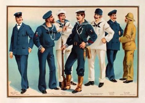 verschiedene Seeleute