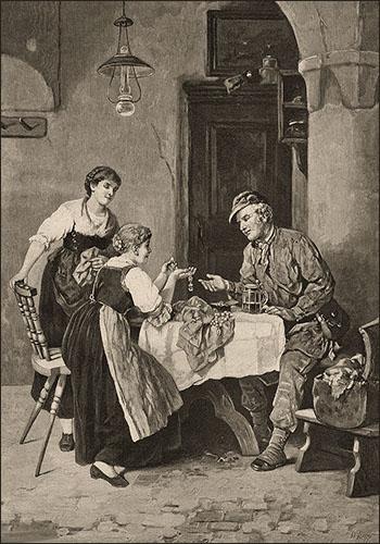 Lihto: Mann bietet zwei Frauen günstigen Perlenschmuck an - 1889