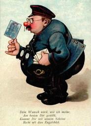 gemalte Postkarte + Spruch: Dein Wunsch wird, wie ich meine, am besten Dir gestillt, kommt Dir mit diesem Scheine recht oft dies Engelsbild - 1918