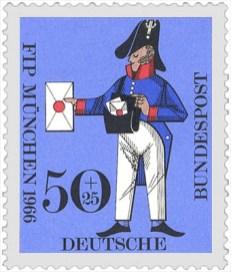 Briefmarke: Briefträger in bayrischer Uniform - 1830