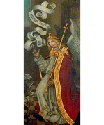 Altarbild: Gabriel mit Schriftrolle und Botenstab - 1500