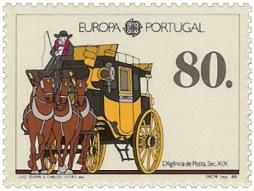 Briefmarke: Dreispänner-Postkutsche