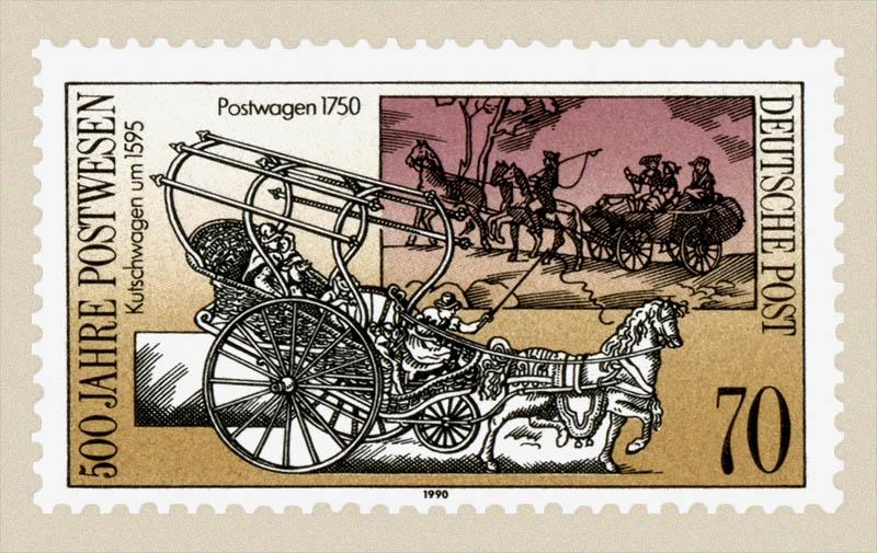 Briefmarke: 500 Jahre Postwesen