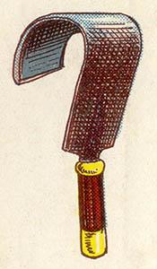 illu: krumm gebogenes Eisen mit Griff