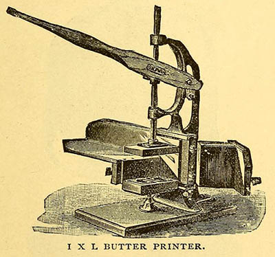 alte illu: Butterdrucker oder auch Stempel