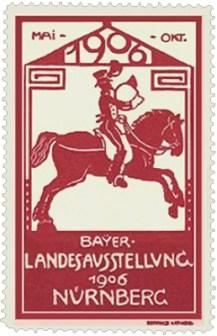 Marke mit Postreiter - 1906, Nürnberg