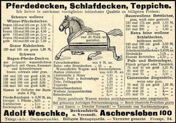 Zeitungsanzeige aus Aschersleben von 1903