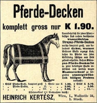 Wiener Zeitungsanzeige von 1910