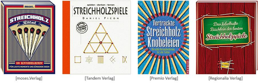 Cover: Publkationen zu Streichholzrätsel versch. Verlage